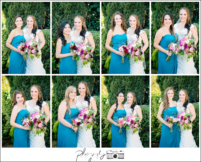 34-Teal-Floor-Length-Bridesmaids-Dresses-Bride-Bouquets-Flowers-Seattle-Wedding-Photographer-Photography-by-Betty-Elaine