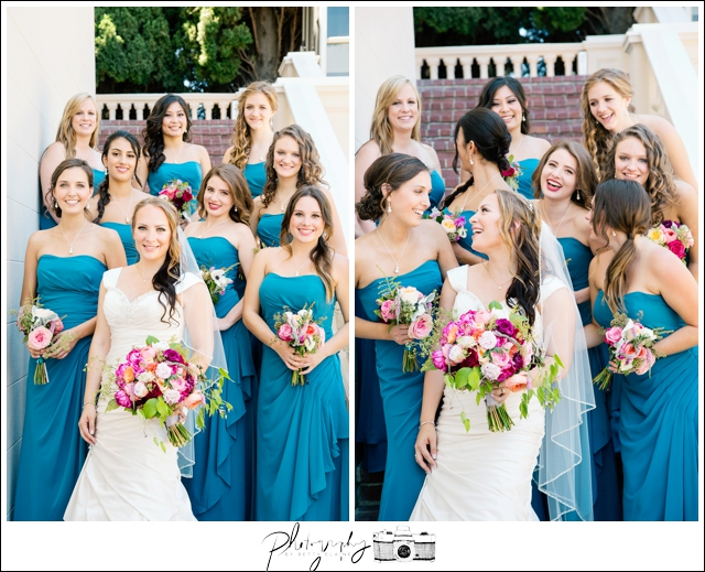 35-Bridal-Portraits-Teal-Floor-Length-Bridesmaids-Dresses-Bride-Bouquets-Flowers-Seattle-Wedding-Photographer-Photography-by-Betty-Elaine