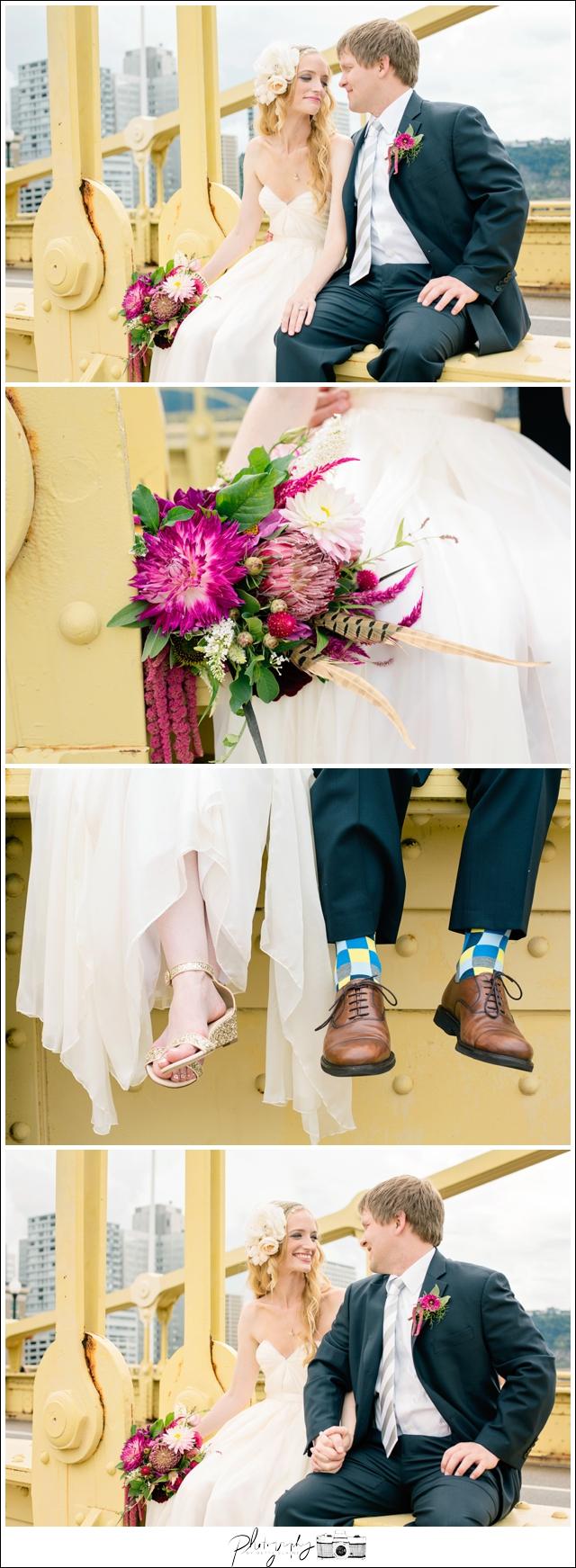 14-Pittsburgh-Bride-Groom-Portraits-Beautiful-Fun-Roberto-Clemente-Bridge-Destination-Wedding-Seattle-Wedding-Photographer