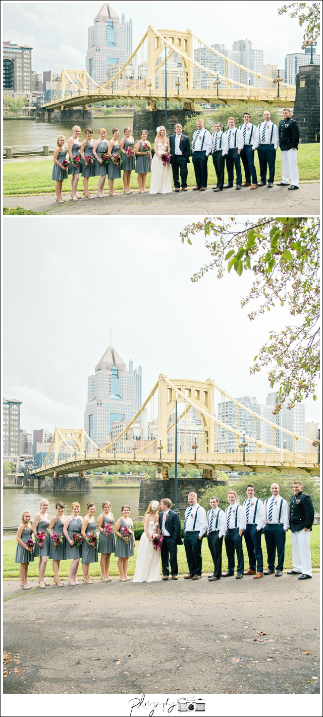 16-Pittsburgh-Wedding-Party-Portraits-Roberto-Clemente-Bridge-Destination-Wedding-Seattle-Wedding-Photographer