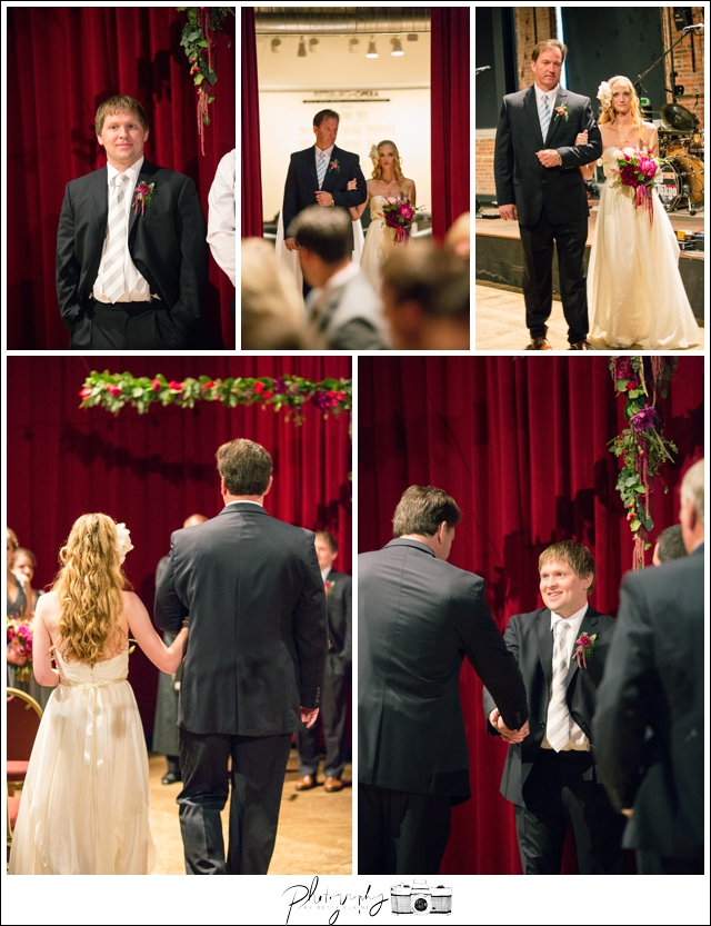 33-Ceremony-Pittsburgh-Opera-Industrial-Romantic-Wedding-Venue-Processional-Bride-walk-down-aisle-Seattle-Photographer