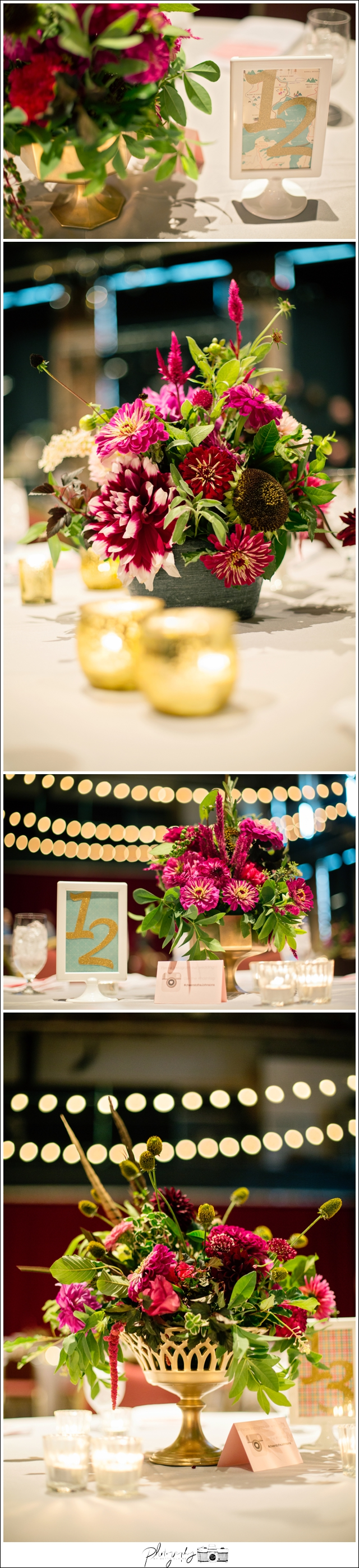 43-Reception-greenSinner-Floral-centerpiece-Pittsburgh-Opera-Industrial-Romantic-Wedding-Venue-Seattle-Photography-by-Betty-Elaine