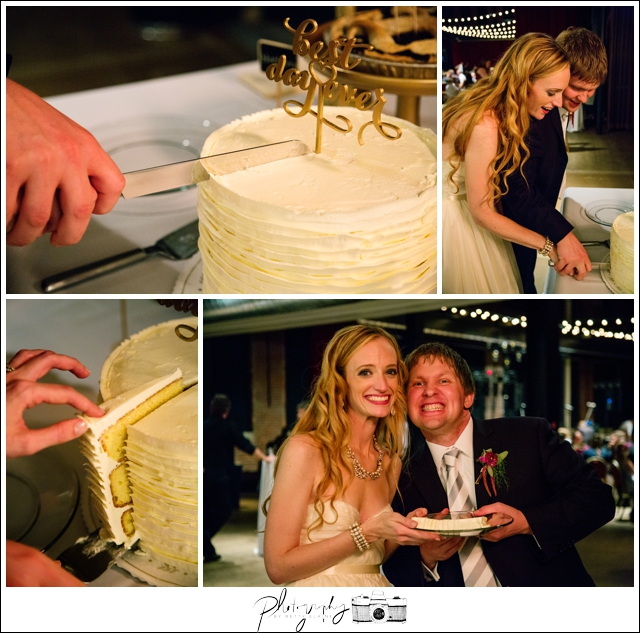 54-Reception-Best-Day-Ever-Pie-Table-Cake-Cutting-Pittsburgh-Opera-Industrial-Romantic-Wedding-Venue-Seattle-Photography-by-Betty-Elaine
