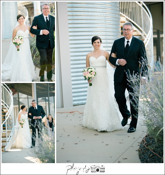 24-Processional-Father-of-Bride-Lakeside-Ceremony-Farm-Wedding