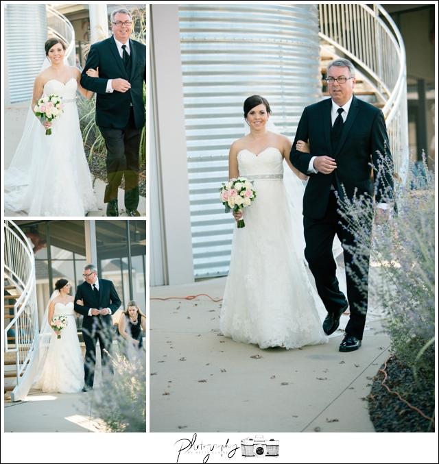 24-Processional-Father-of-Bride-Lakeside-Ceremony-Farm-Wedding