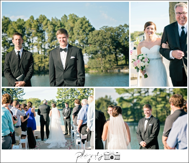 25-processional-grooms-reaction-Lakeside-Ceremony-Farm-Wedding