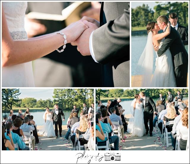 30-Lakeside-Ceremony-Farm-Wedding-Bride-Groom-Vows-Kiss-the-Bride