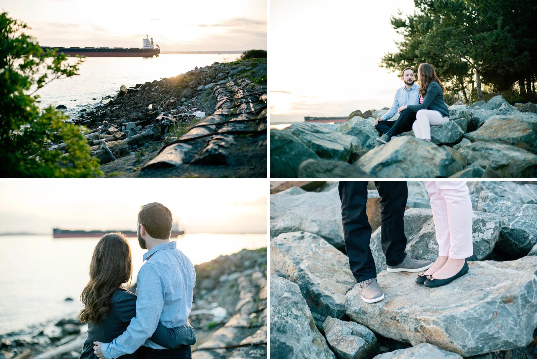 12-Melinda-Tom-Pacfic-Northwest-Engaged-Seattle-Waterfront-Myrtle-Edwards-Park-Romantic-Ocean-Sunset-Driftwood-Beach-Enagement-Photographer-Wedding-Photography-by-Betty-Elaine