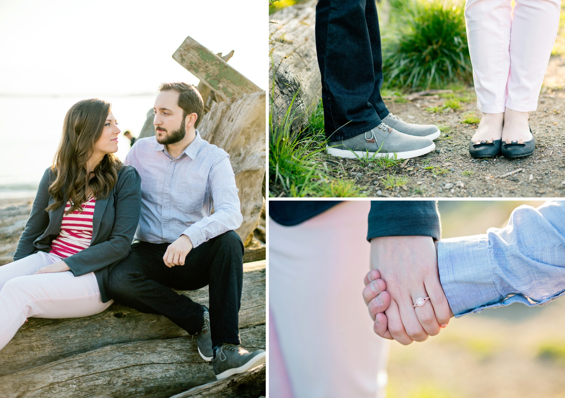 8-Pacfic-Northwest-Engaged-Seattle-Waterfront-Myrtle-Edwards-Park-Romantic-Ocean-Sunset-Driftwood-Beach-Enagement-Ring-Outfit-Details-Photographer-Wedding-Photography-by-Betty-Elaine