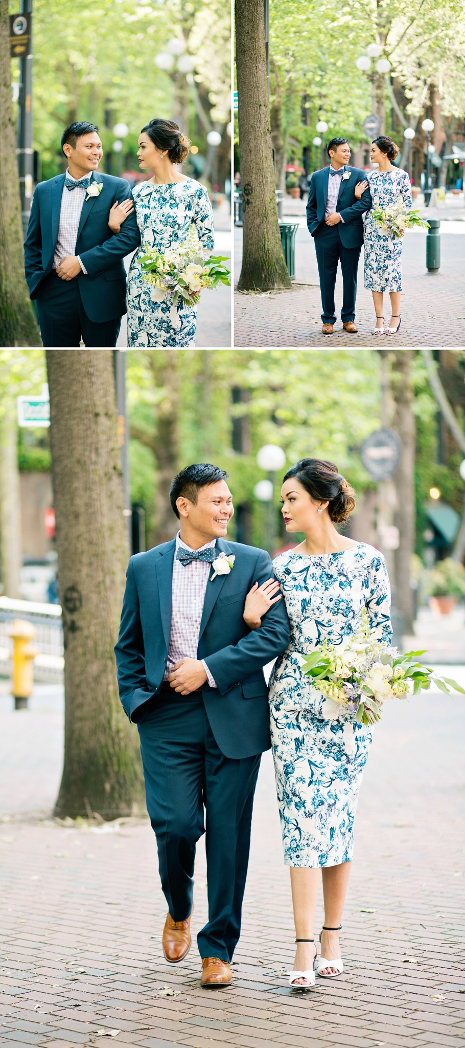 2-Bride-Groom-Candid-Portraits-Occidental-Park-Pioneer-Square-Seattle-Wedding-Day-Photographer-Photography-by-Betty-Elaine