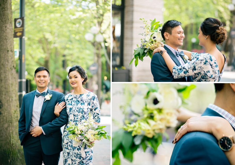 3-Bride-Groom-Portraits-Occidental-Park-Pioneer-Square-Seattle-Wedding-Day-Photographer-Photography-by-Betty-Elaine