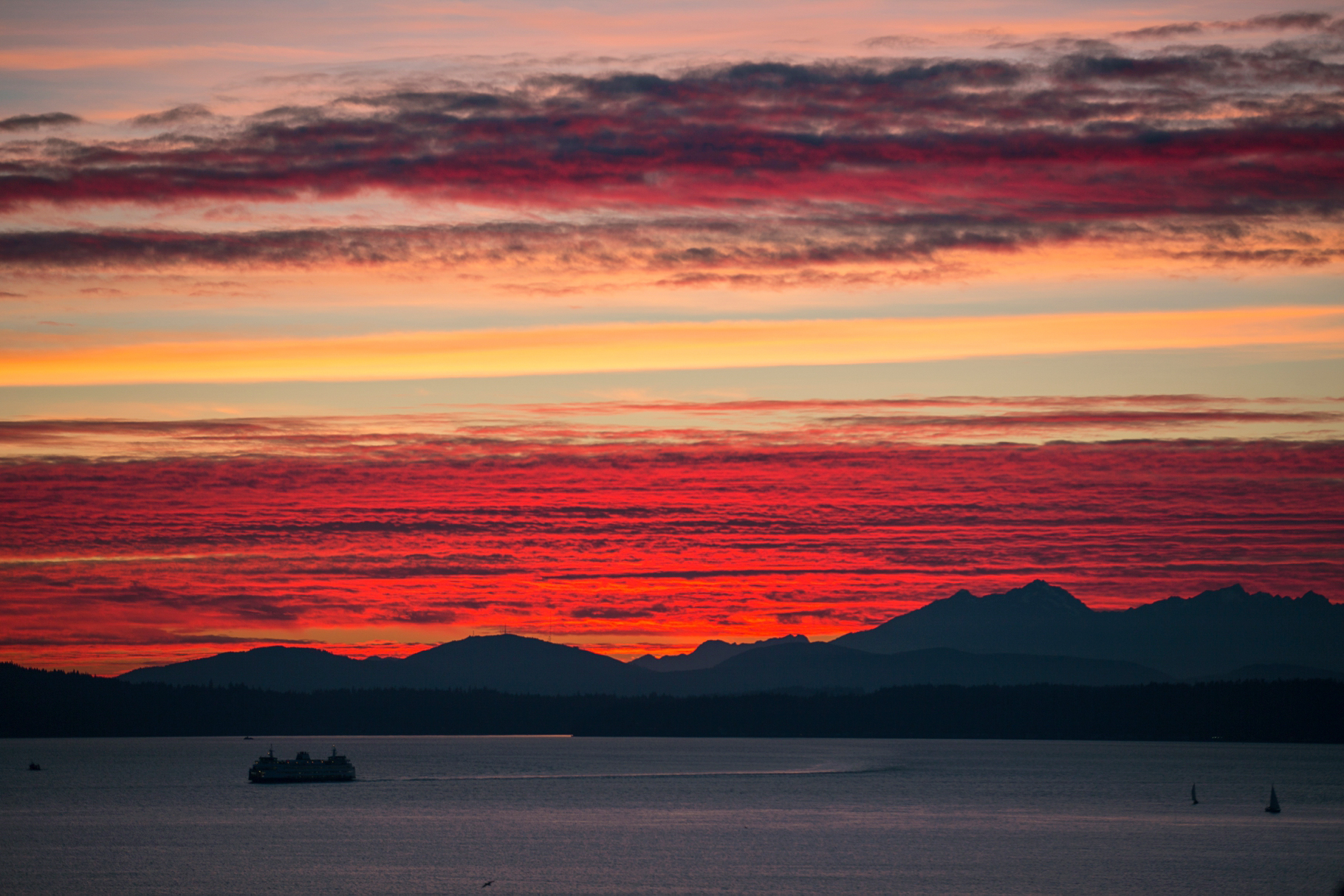 9-2015-Photographer-Year-in-Review-Pink-Sunset-Mountains-Waterfront-Seattle-Wedding-Photography-by-Betty-Elaine