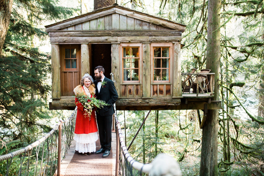 1 Treehouse Point Elopement Wedding Eloping In Seattle