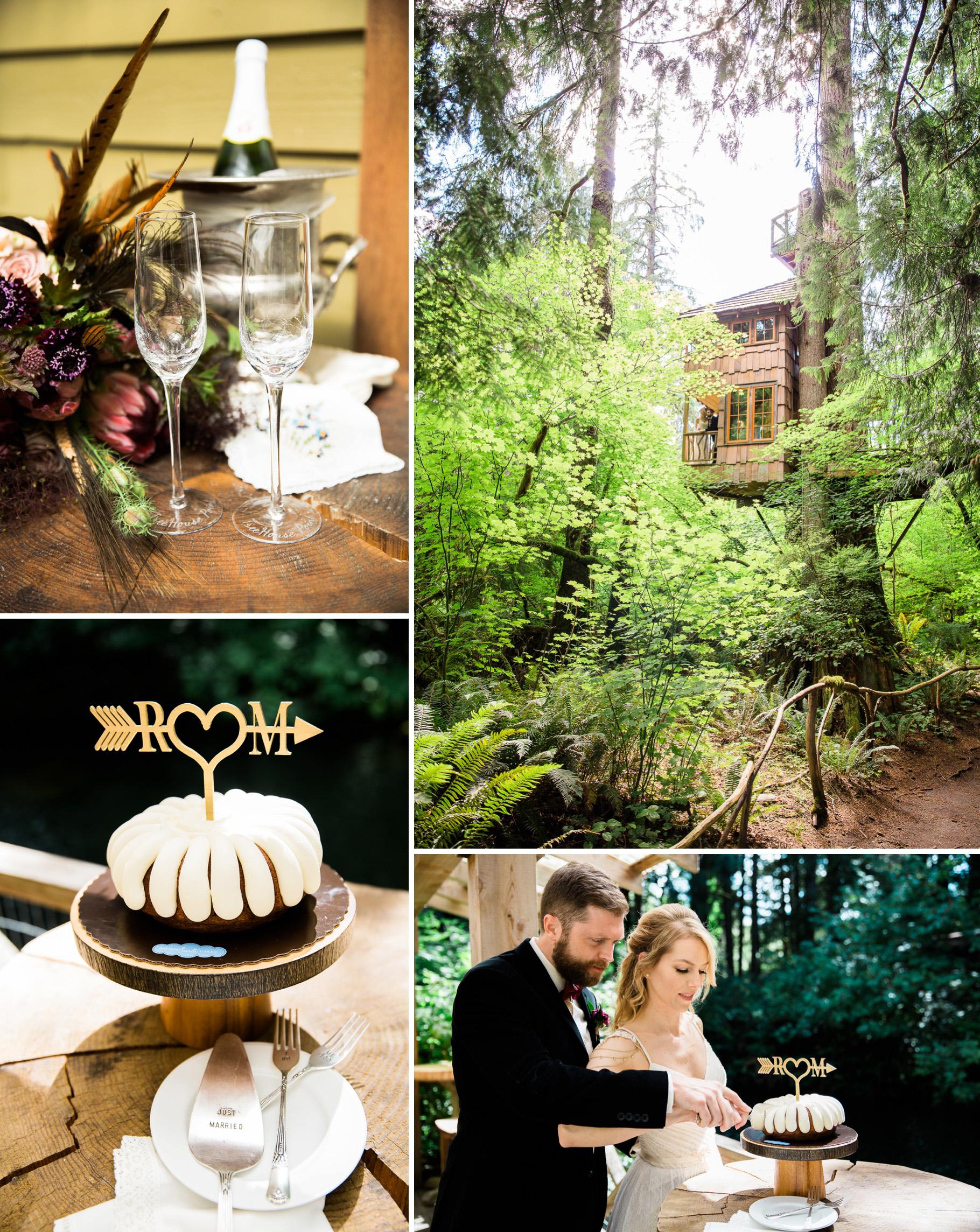 15-Treehouse-Point-Elopement-Seattle-Wedding-Photographer-Cake