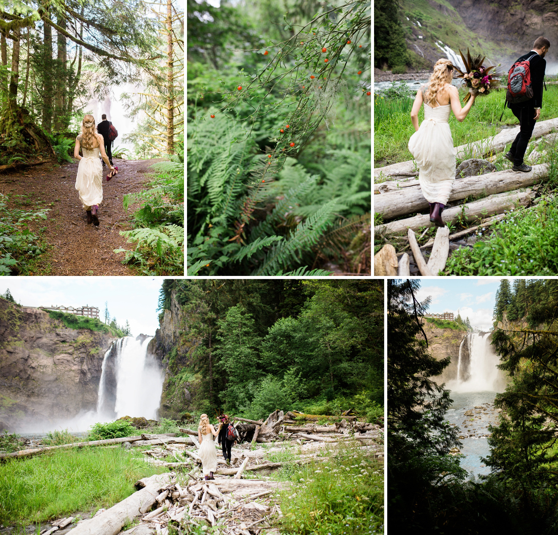 16-Adventure-Elopement-Waterfall-Seattle-Wedding-Photographer-Snoqualmie-Falls-Hike