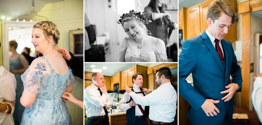 2-Black-Diamond-Gardens-Wedding-Seattle-Photographer-Custom-Blue-Wedding-Dress