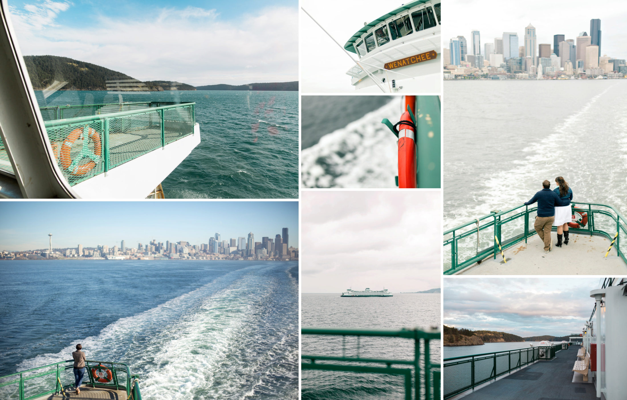 Best places to elope near Seattle. Washington State Ferry elopement wedding photography.